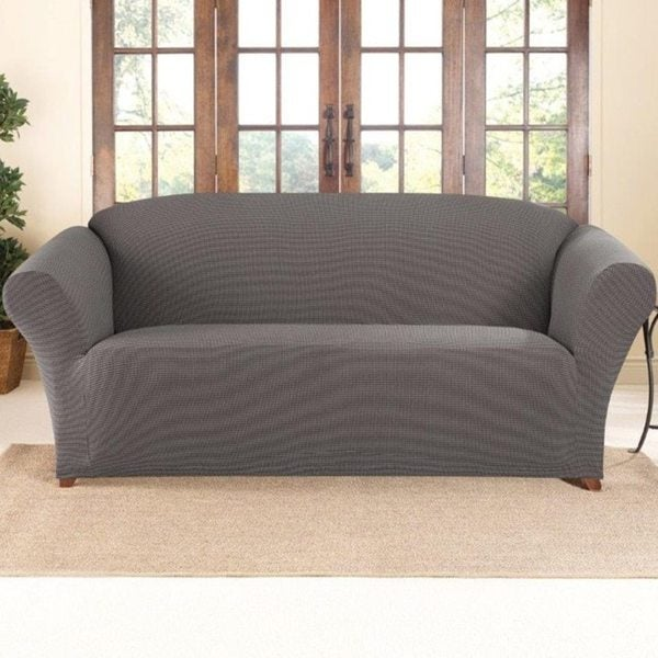Sure Fit Stretch Two Tone Honeycomb Sofa Slipcover
