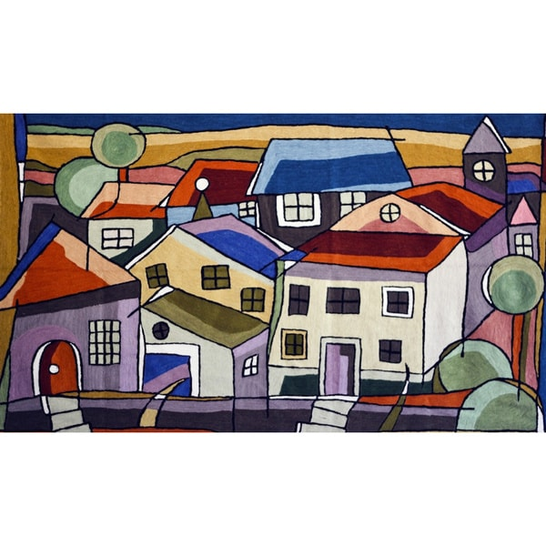 Handmade Chain Stitch House Tapestry (India)