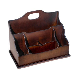 D-Art Mahogany Wood Letter Box, Handmade in Indonesia