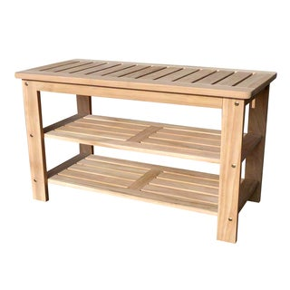 D-Art Handmade Teak Wood Shoe Bench (Indonesia)