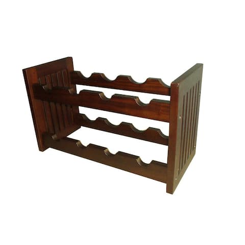 Handmade D-Art Mahogany Wood Old Country Wine Rack (Indonesia)