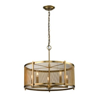 Elk Lighting Home Rialto 5-light Aged Brass Pendant