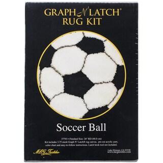 "Latch Hook Kit 26"" Round-Soccer Ball"