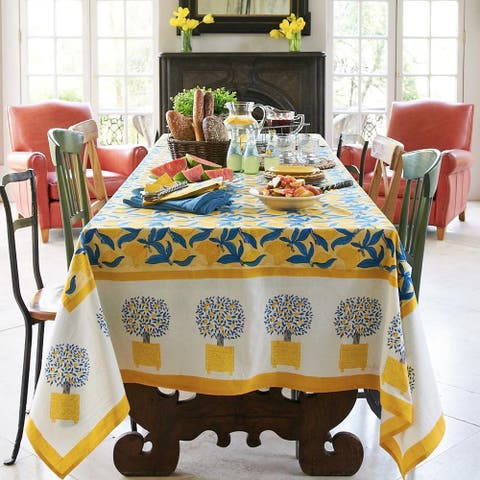 Couleur Nature Lemon Tree Rectangle Tablecloth
