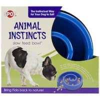 "Animal Instincts Slow Feed Bowl 10""-Blue"