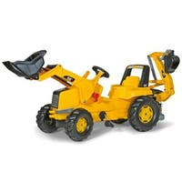 Kettler Cat Front Loader and Backhoe Ride-On