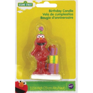 Elmo Birthday Candle