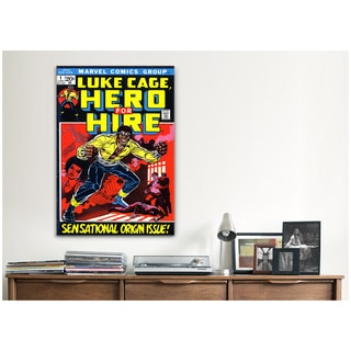 iCanvas Marvel Comic Book Luke Cage Issue Cover 1 Canvas Print Wall Art