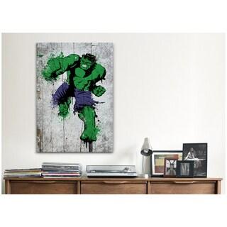 iCanvas Marvel Comic Book: Hulk Spray Paint Canvas Print Wall Art