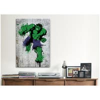 iCanvas Marvel Comic Book: Hulk Spray Paint Canvas Print Wall Art