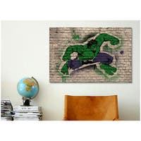 iCanvas Marvel Comic Book: Hulk Graffiti Canvas Print Wall Art