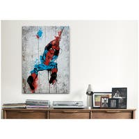 iCanvas Marvel Comic Book: Spider-Man Spray Paint Canvas Print Wall Art