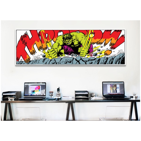 Good ICanvas Marvel Comic Book Hulk Art Panel B Canvas Print Wall Art