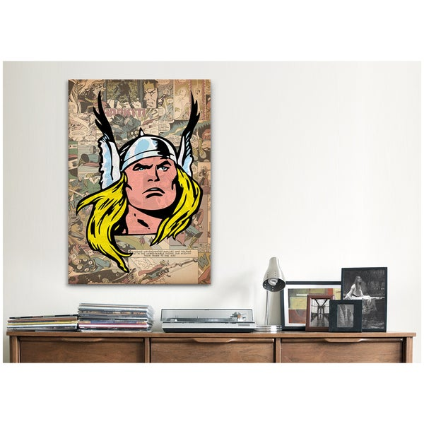 iCanvas Marvel Comic Book Transparent Character on Panel Canvas Print Wall Art