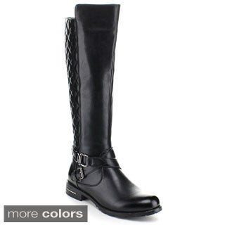 Miim Yara-02 Women's Quilt Knee High Riding Boots