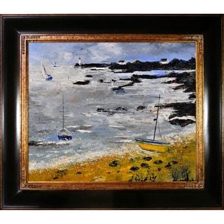Pol Ledent 'Seascape 675060' Framed Fine Art Print