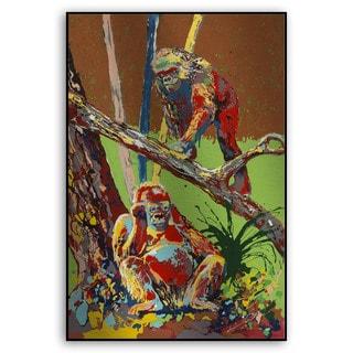 Gallery Direct Fatmir Gjevukaj's 'Two Gorillas' Metal Art
