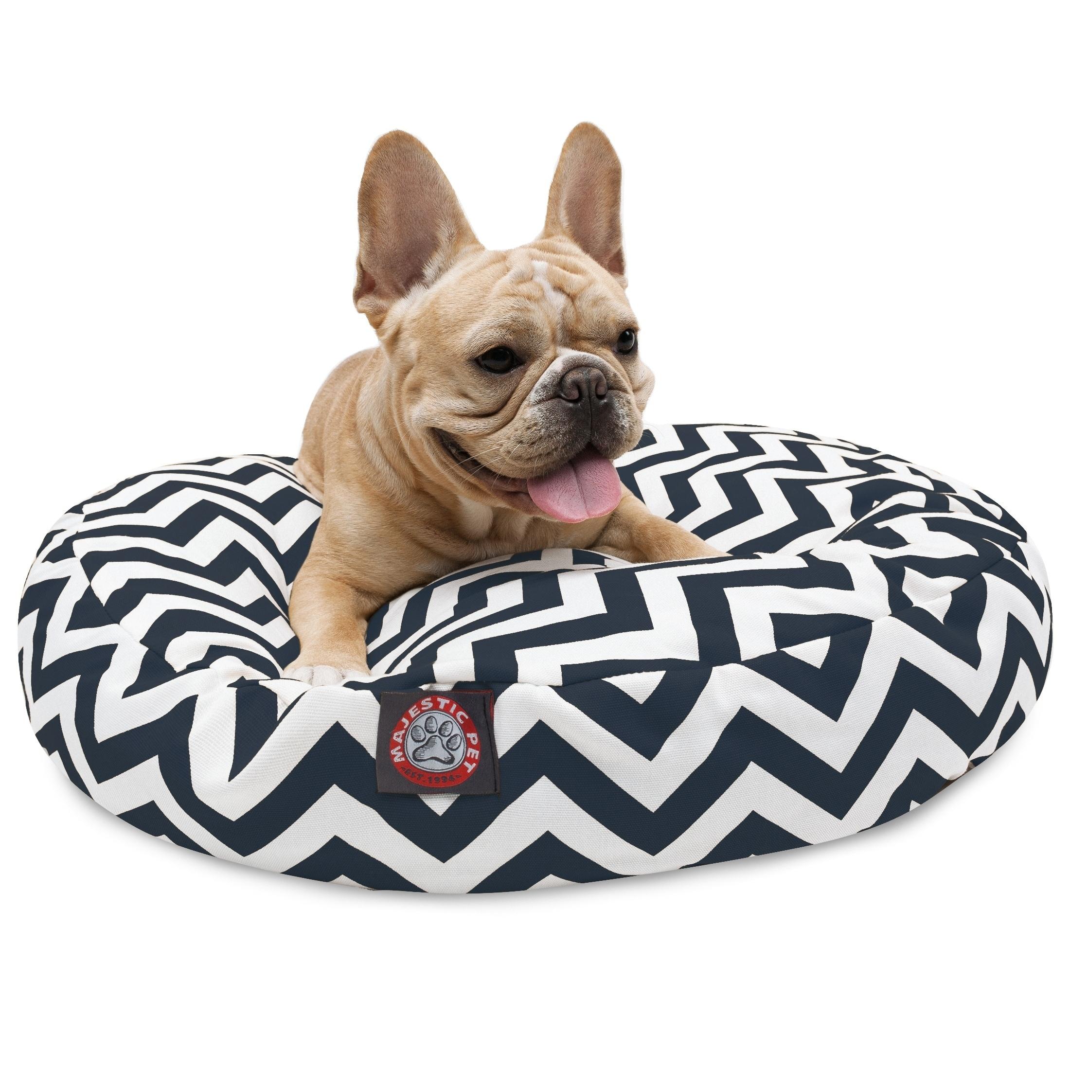 Majestic Pet Chevron Indoor/ Outdoor Dog Bed (Navy Chevro...
