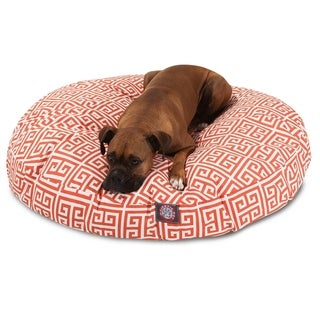 Majestic Pet Towers Indoor/ Outdoor Round Large/ Extra Large Dog Pet Bed with Removable Washable Cover (Orange - Large - Large)