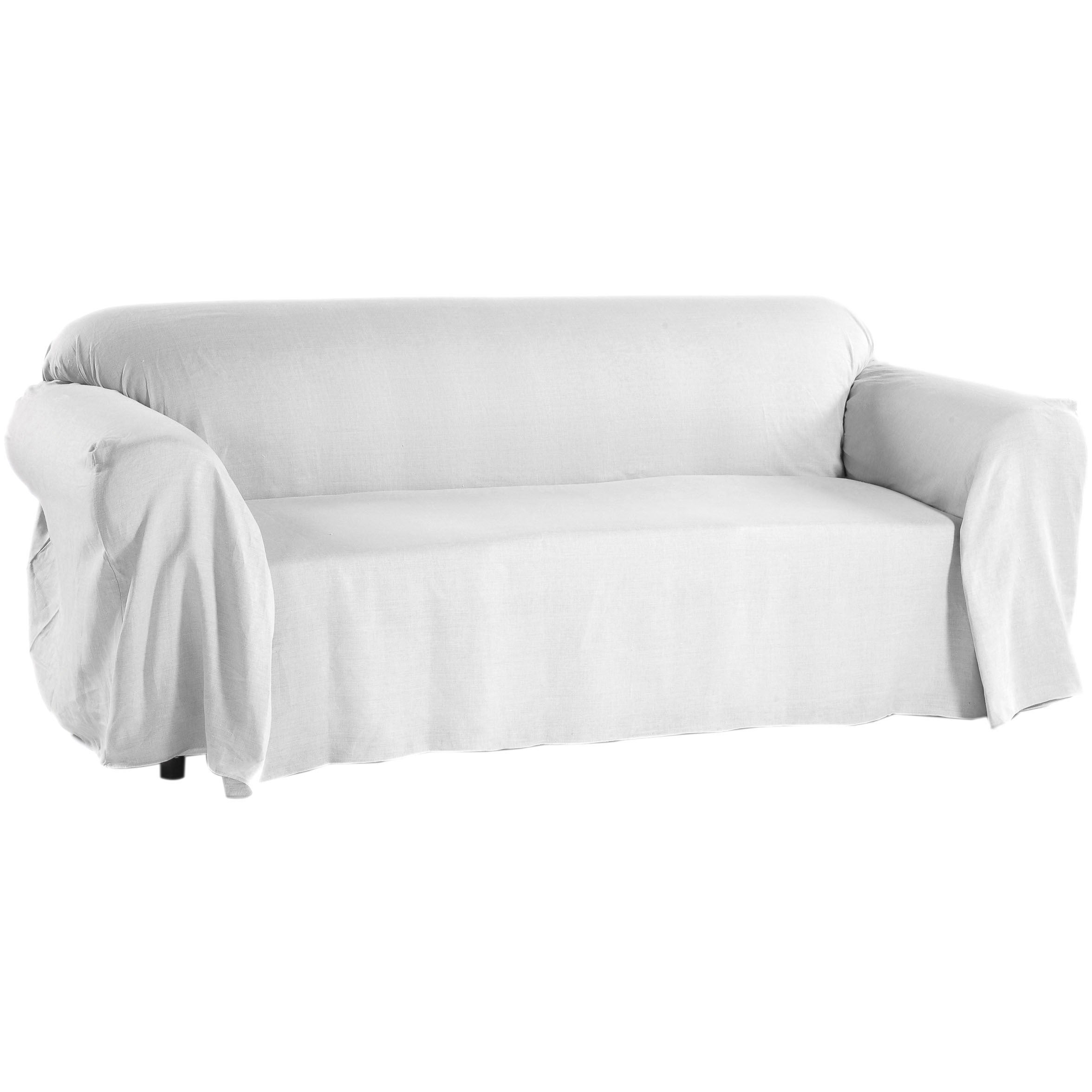 Washed Linen Sofa Slipcover Throw