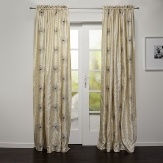 Roma Embroidered Faux Silk 88-inch Curtain Panel