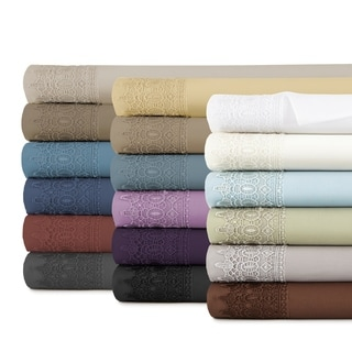 Southshore Fine Linens Vilano Lace Extra Deep Pocket Sheet Set