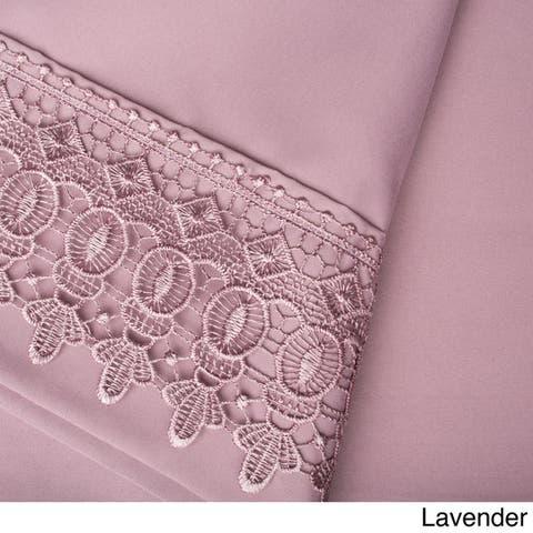 Vintage Crochet Lace Hem Extra Deep Pocket Sheet