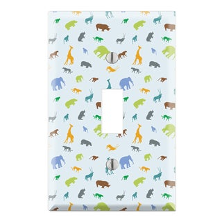 Boy's Animal Zoo Pattern Decorative Wall Plate Cover