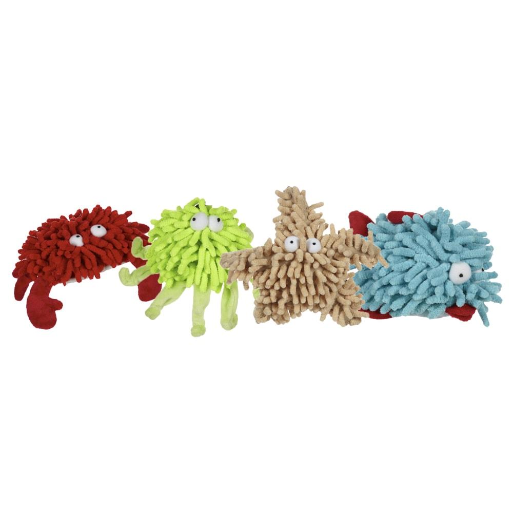 "Multipet Shammie Sea Creature Dog Toy (Light Blue Fish 6"")"