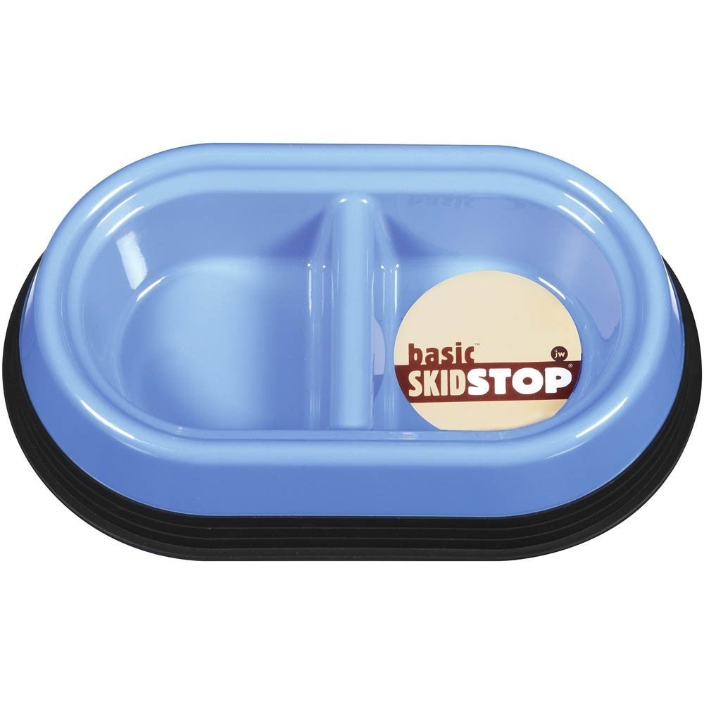 JW Skid Stop Double Diner Pet Bowl (Large Dish), Multi