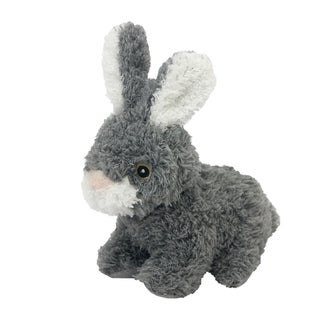 Multipet Look Who's Talking 5-inch Plush Bunny Dog Toy