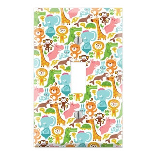 Baby's Animal Zoo Pattern Decorative Wall Plate Cover