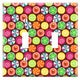 Candy Clover Strawberry Fruit Pattern Decorative Wall Plate Cover - Thumbnail 3