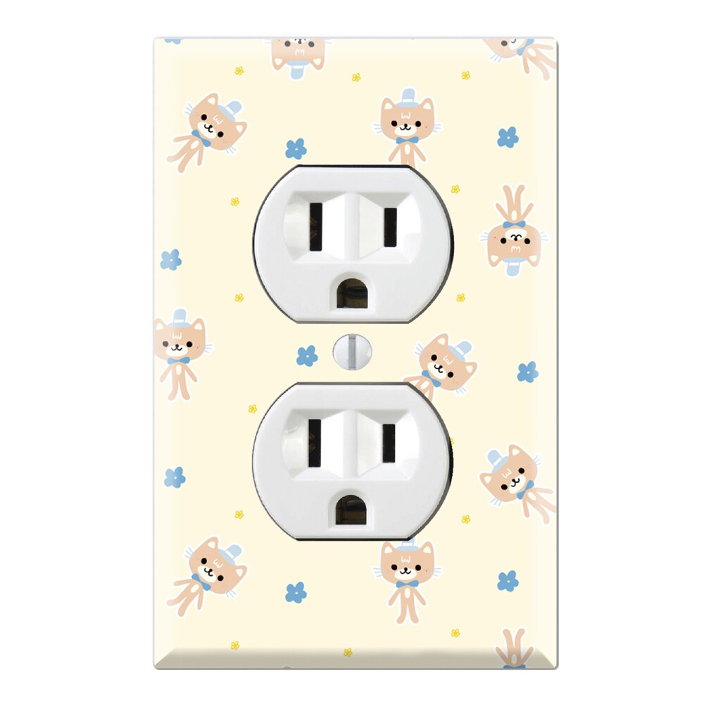 Girl's Kitty Doll Pattern Decorative Wall Plate Cover (Du...