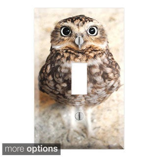 Cute Baby Owl Decorative Wall Plate Cover