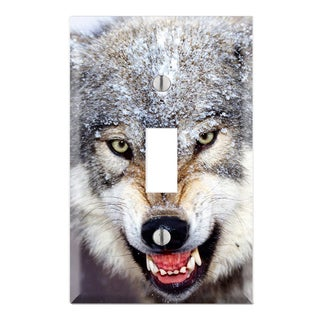 Wolf Decorative Wall Plate Cover
