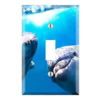 Cute Dolphin Decorative Wall Plate Cover