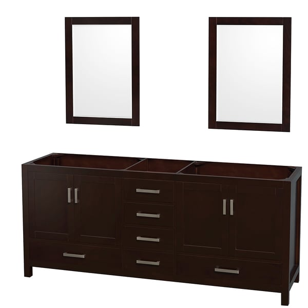 Wyndham Collection Sheffield Espresso Inch Double Bathroom - Bathroom vanity no sink