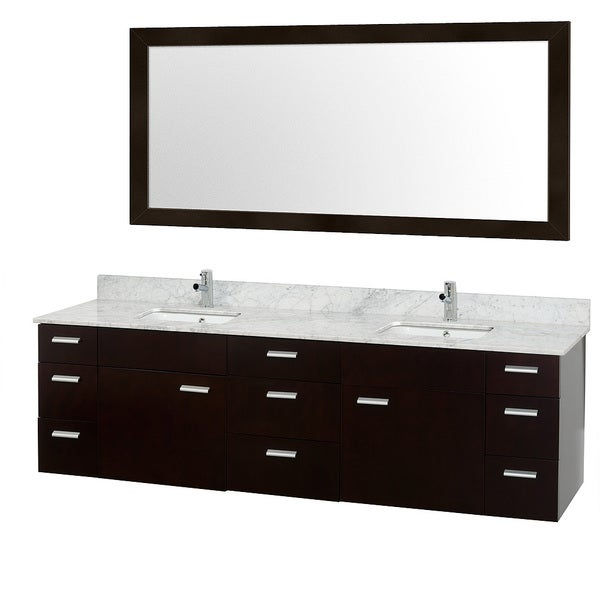 Wyndham Collection Encore Espresso 78 Inch Double Bathroom