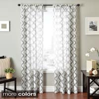 Softline Penby Burnout Rod Pocket Curtain Panel
