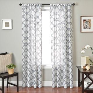 Softline Penby Burnout Rod Pocket Curtain Panel