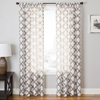 Softline Penby Burnout Rod Pocket Single Curtain Panel