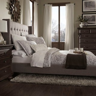 INSPIRE Q Marion Nailhead Wingback Tufted Upholstered King Bed