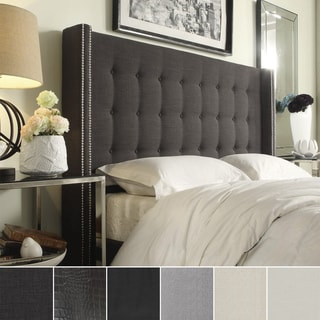 Marion Nailhead Wingback Button Tufted Full Size Headboard by INSPIRE Q