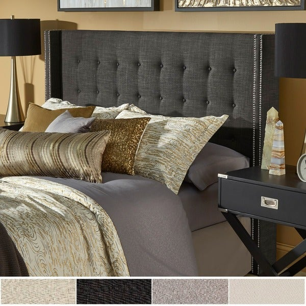 Marion Nailhead Wingback Button Tufted Headboard by iNSPIRE Q Bold