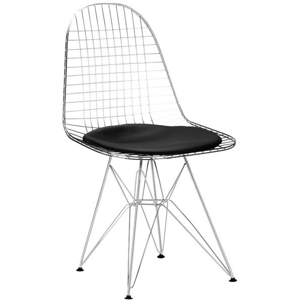 Poly and Bark Hamlet Wire Dining Chair in Black (Set of 2)