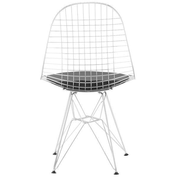 shop poly and bark hamlet wire dining chair in black  set of 2  - on sale