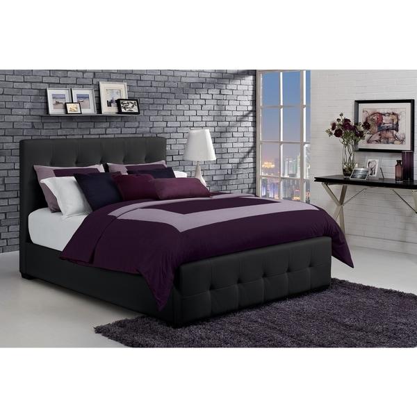 DHP Florence Black Full-size Upholstered Bed