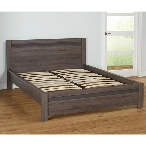 Shop Carson Carrington Porsgrunn Grey Wood Queensize Bed Free - Carrington bedroom furniture