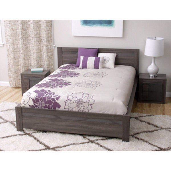 Carson Carrington Porsgrunn Grey Wood Queen-size Bedroom Set